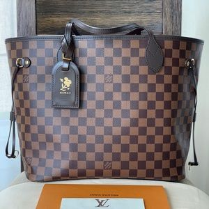 SOLD! Authentic Louis Vuitton Neverfull MM damier